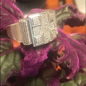 Genuine Diamond .925 Solid Silver Men's Ring✨